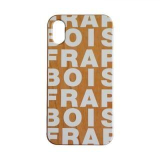 iPhone XS/X ケース FRAPBOIS ウッドケース WOOD LOGO WHITE iPhone XS/X