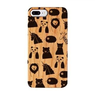 【iPhone8 Plus/7 Plusケース】FRAPBOIS ウッドケース WOOD ZOO BLACK iPhone 8 Plus/7 Plus【12月下旬】