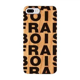 【iPhone8 Plus/7 Plusケース】FRAPBOIS ウッドケース WOOD LOGO BLACK iPhone 8 Plus/7 Plus【12月下旬】
