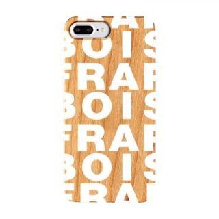 iPhone8 Plus/7 Plus ケース FRAPBOIS ウッドケース WOOD LOGO WHITE iPhone 8 Plus/7 Plus