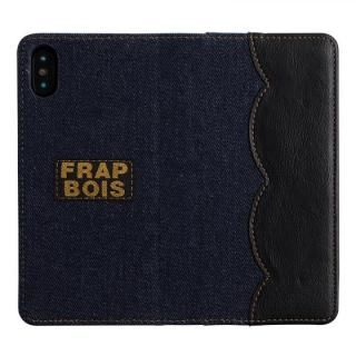 iPhone XS/X ケース FRAPBOIS 手帳型ケース SCALLOP BLACK iPhone XS/X【8月下旬】