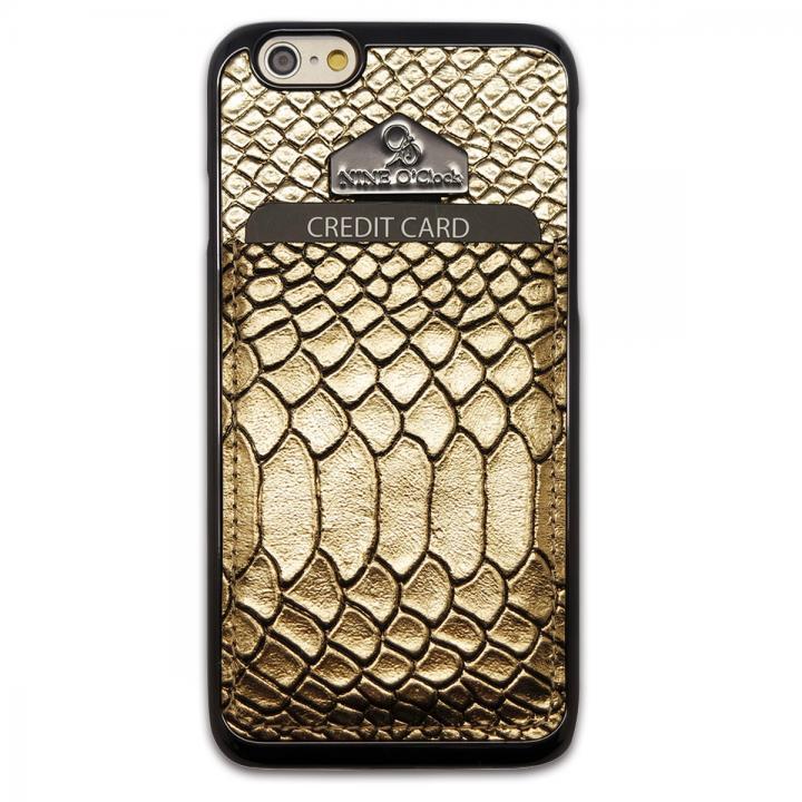 【iPhone6ケース】i-Pocket プレミアム ヘビ柄型押しケース ゴールド iPhone 6_0