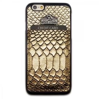 i-Pocket プレミアム ヘビ柄型押しケース ゴールド iPhone 6