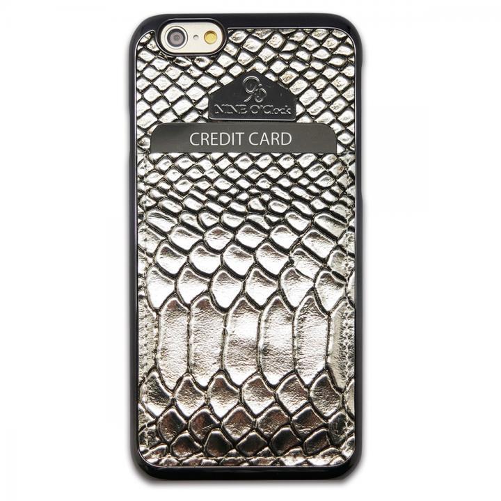 iPhone6 ケース i-Pocket プレミアム ヘビ柄型押しケース シルバー iPhone 6_0