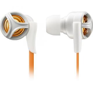 パワフルな重低音 イヤホン TH-XEC200 オレンジ
