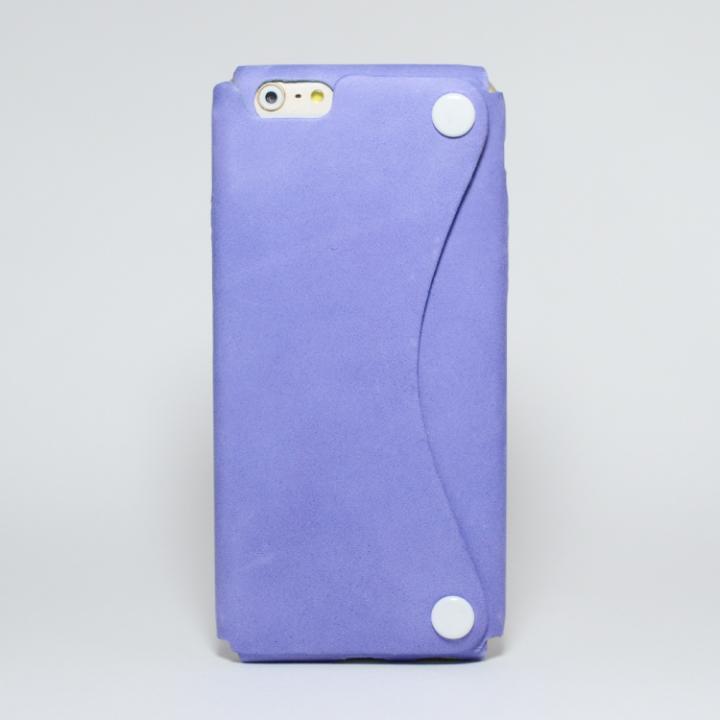 iPhone6s/6 ケース 本革一枚で包み込むケース mobakawa アッシュパープル iPhone 6s/6_0
