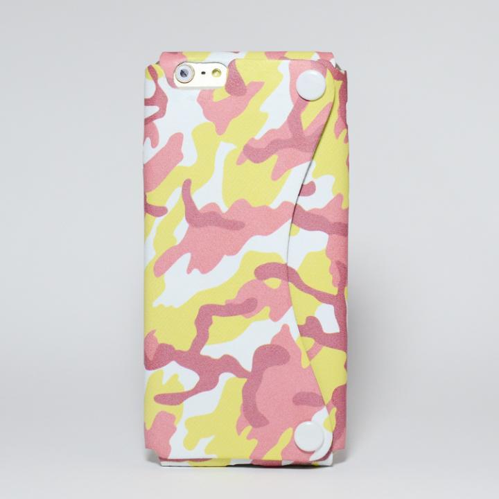 iPhone6 ケース 本革一枚で包み込むケース mobakawa レッドカモフラージュ iPhone 6_0