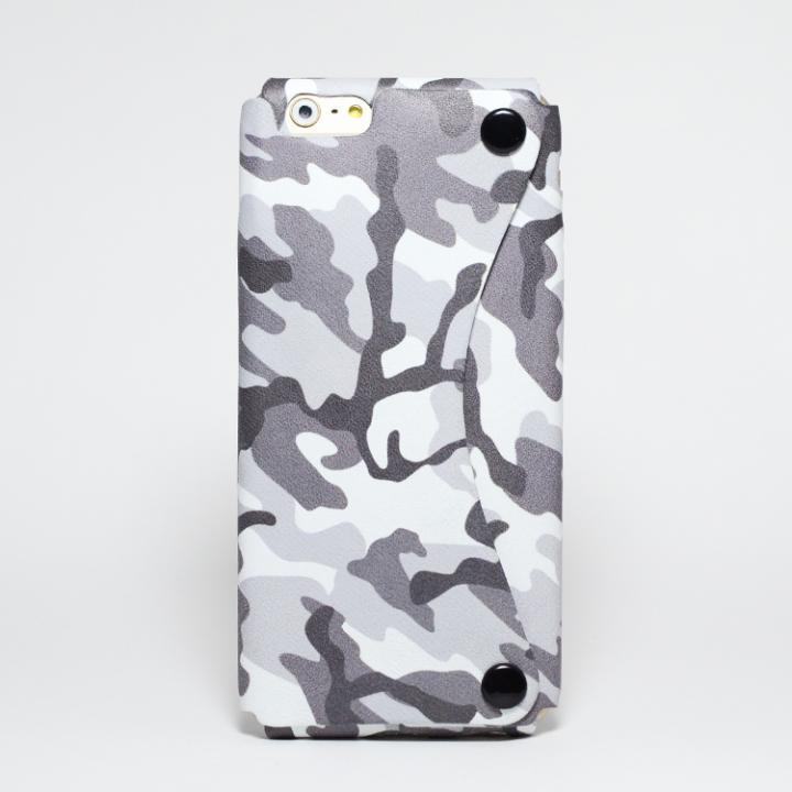 iPhone6 ケース 本革一枚で包み込むケース mobakawa ホワイトカモフラージュ iPhone 6_0