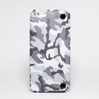 本革一枚で包み込むケース mobakawa ホワイトカモフラージュ iPhone 6