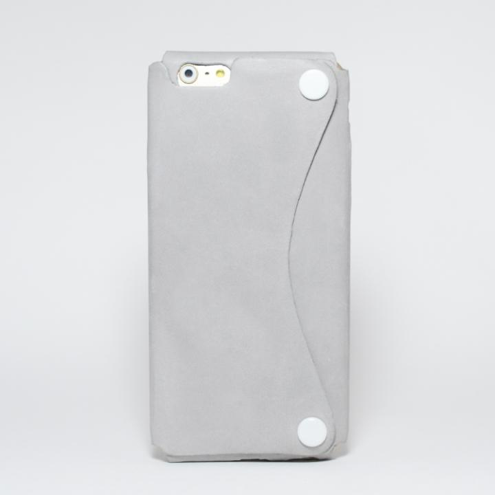 iPhone6s/6 ケース 本革一枚で包み込むケース mobakawa アッシュグレー iPhone 6s/6_0