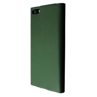 GRAMAS One-Sheet Leather グリーン iPhone SE/5s/5 手帳型ケース