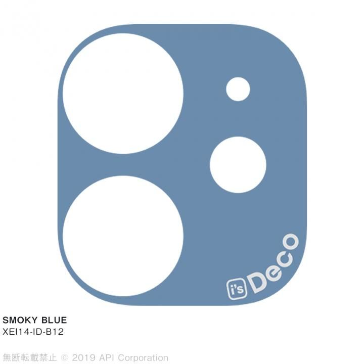 iPhone 11 ケース EYLE i's Deco カメラレンズ デコフィルム SMOKY BLUE iPhone 11_0