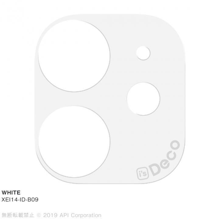 iPhone 11 ケース EYLE i's Deco カメラレンズ デコフィルム WHITE iPhone 11_0