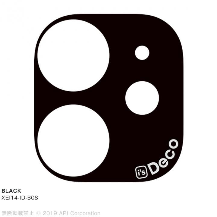 iPhone 11 ケース EYLE i's Deco カメラレンズ デコフィルム BLACK iPhone 11_0