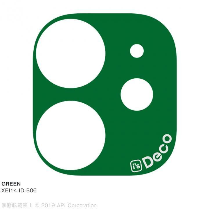 iPhone 11 ケース EYLE i's Deco カメラレンズ デコフィルム GREEN iPhone 11_0