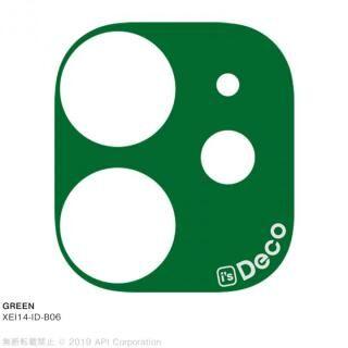 iPhone 11 ケース EYLE i's Deco カメラレンズ デコフィルム GREEN iPhone 11