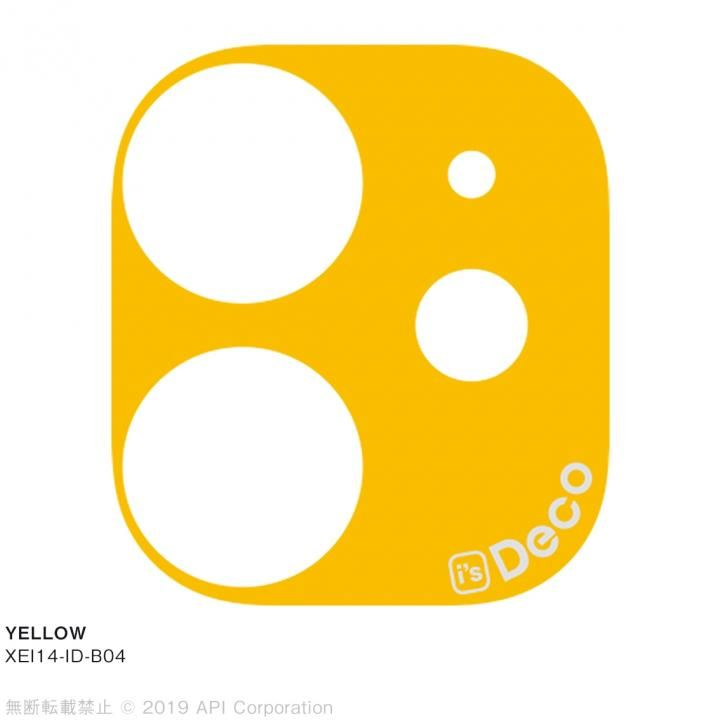 iPhone 11 ケース EYLE i's Deco カメラレンズ デコフィルム YELLOW iPhone 11_0