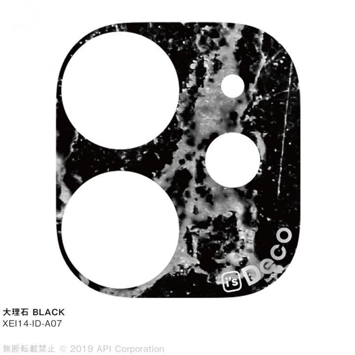 iPhone 11 ケース EYLE i's Deco カメラレンズ デコフィルム 大理石 BLACK iPhone 11_0