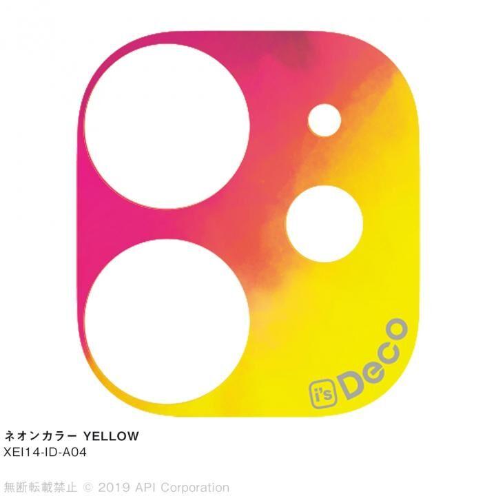 iPhone 11 ケース EYLE i's Deco カメラレンズ デコフィルム ネオンカラー YELLOW iPhone 11_0