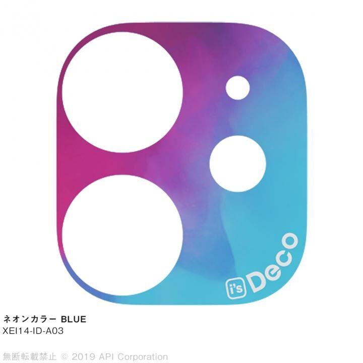 iPhone 11 ケース EYLE i's Deco カメラレンズ デコフィルム ネオンカラー BLUE iPhone 11_0