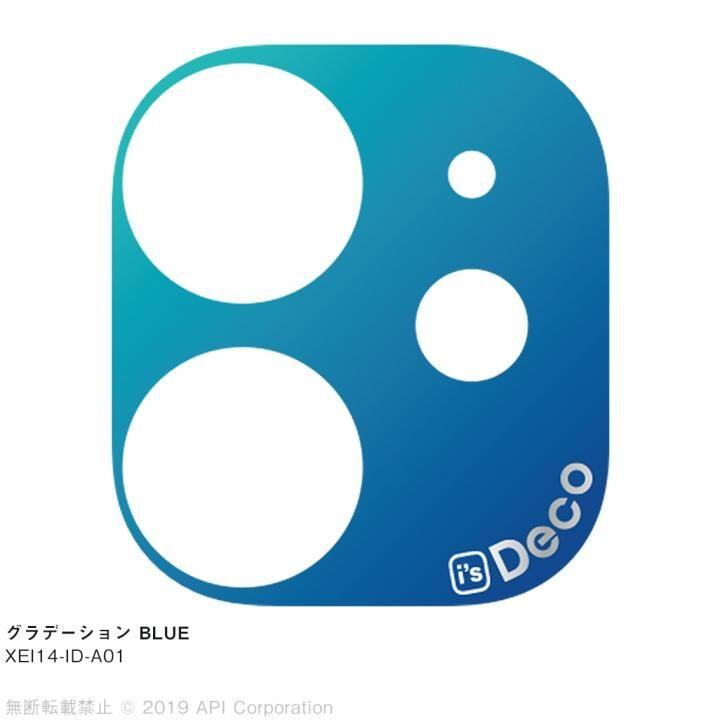 iPhone 11 ケース EYLE i's Deco カメラレンズ デコフィルム グラデーション BLUE iPhone 11_0