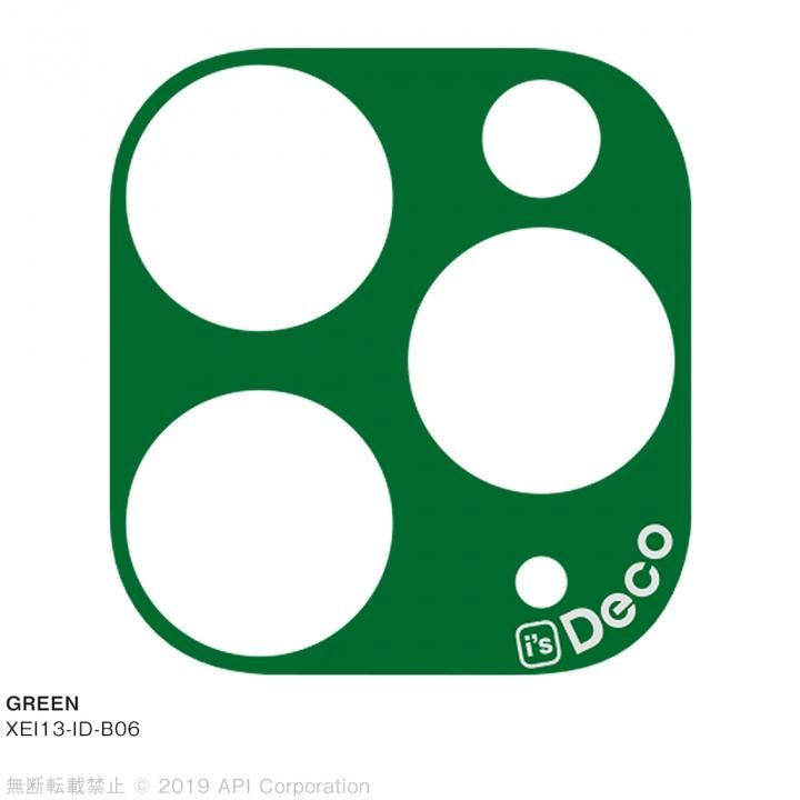 iPhone 11 Pro Max ケース EYLE i's Deco カメラレンズ デコフィルム GREEN iPhone 11 Pro Max_0