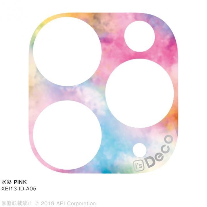 iPhone 11 Pro Max ケース EYLE i's Deco カメラレンズ デコフィルム 水彩 PINK iPhone 11 Pro Max_0