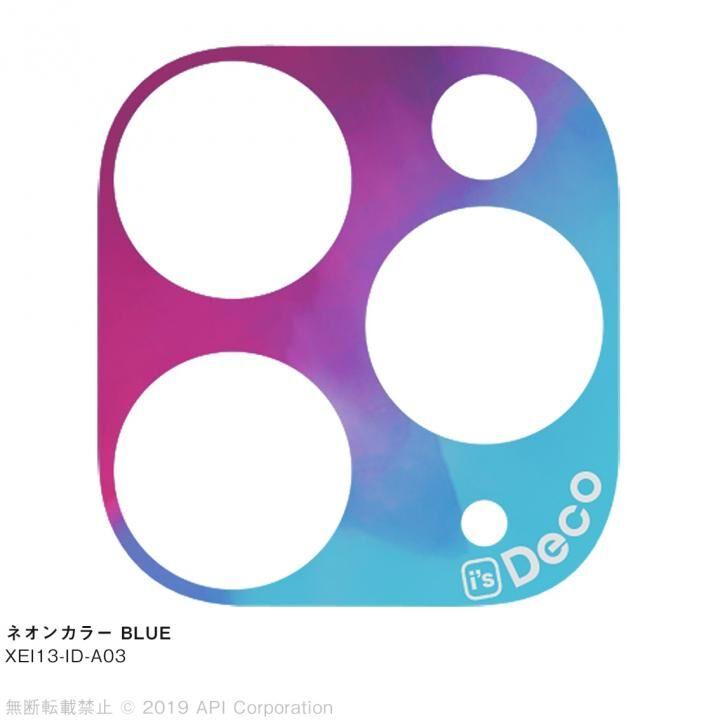 iPhone 11 Pro Max ケース EYLE i's Deco カメラレンズ デコフィルム ネオンカラー BLUE iPhone 11 Pro Max_0