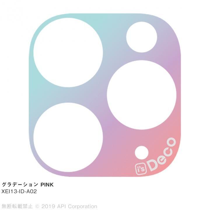 iPhone 11 Pro Max ケース EYLE i's Deco カメラレンズ デコフィルム グラデーション PINK iPhone 11 Pro Max_0
