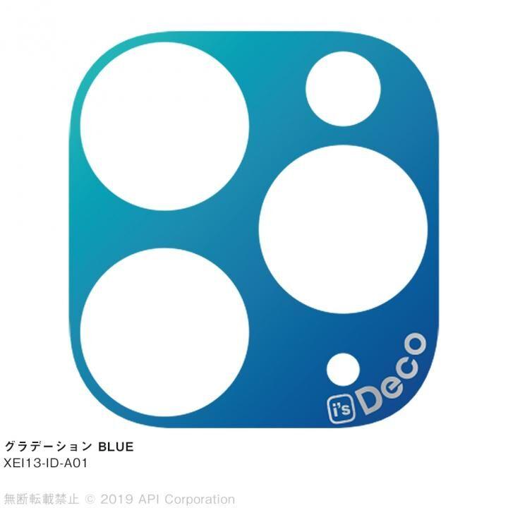 iPhone 11 Pro Max ケース EYLE i's Deco カメラレンズ デコフィルム グラデーション BLUE iPhone 11 Pro Max_0
