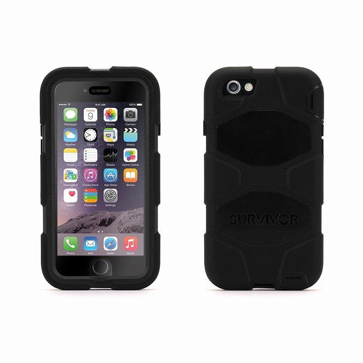 【iPhone6ケース】Survivor 防塵・防滴・耐落下ケース ブラック iPhone 6_0