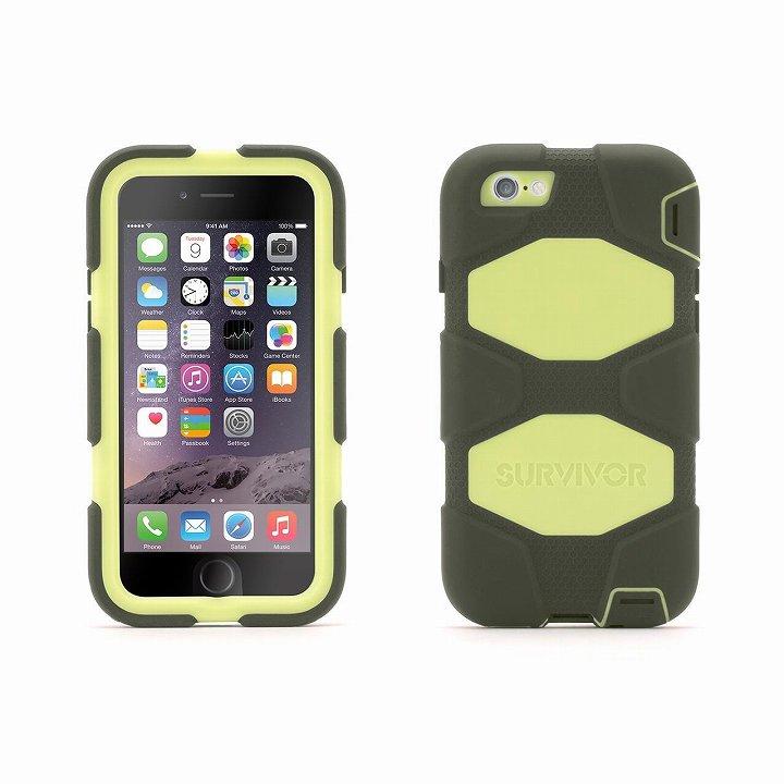 【iPhone6ケース】Survivor 防塵・防滴・耐落下ケース オリーブ/ブラック iPhone 6_0