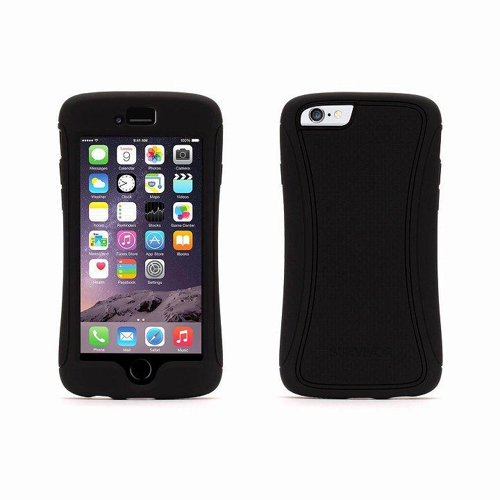 【iPhone6ケース】Survivor スリムハイブリッドケース ブラック iPhone 6_0