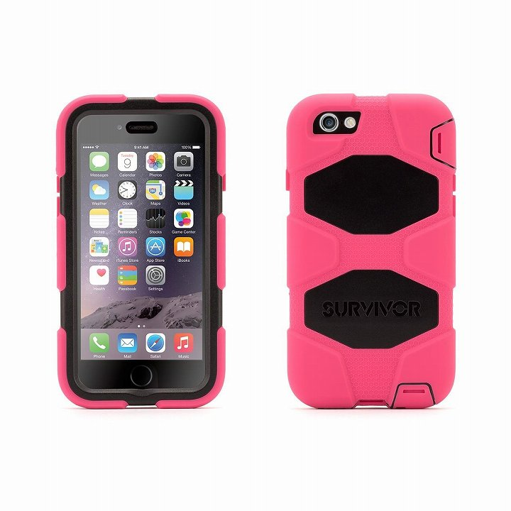 【iPhone6ケース】Survivor 防塵・防滴・耐落下ケース ピンク/ブラック iPhone 6_0