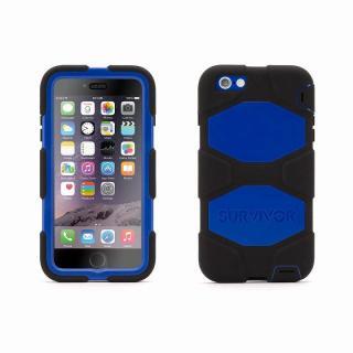 【iPhone6 Plusケース】Survivor 防塵・防滴・耐落下ケース ブラック/ブルー iPhone 6 Plus