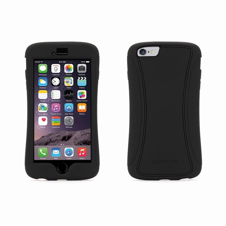Survivor スリムハイブリッドケース ブラック iPhone 6 Plus