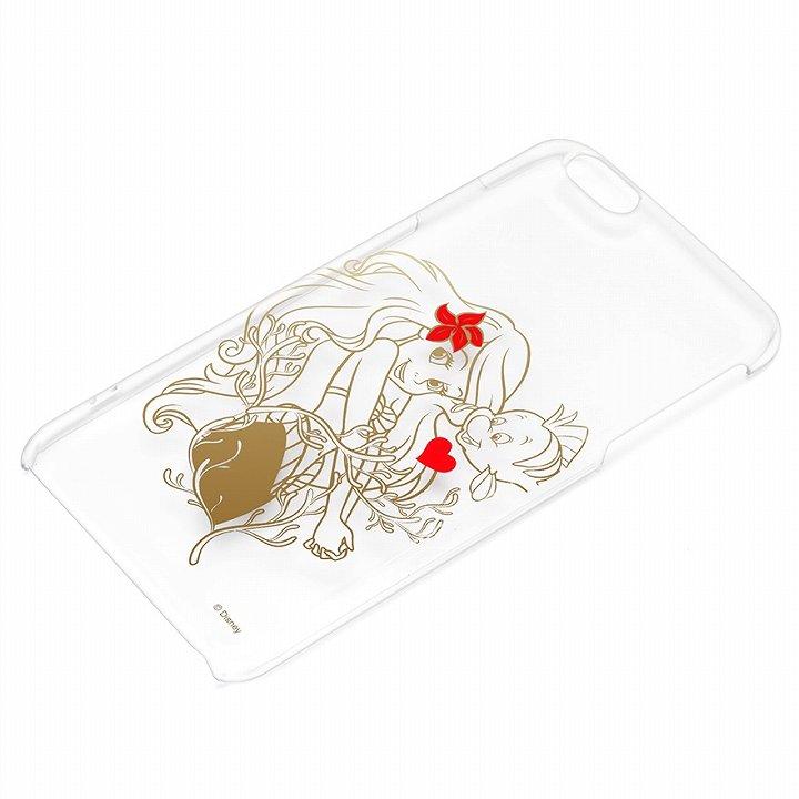 【iPhone6 Plusケース】ディズニー ハードケース クリア金箔押し アリエル iPhone 6 Plus_0