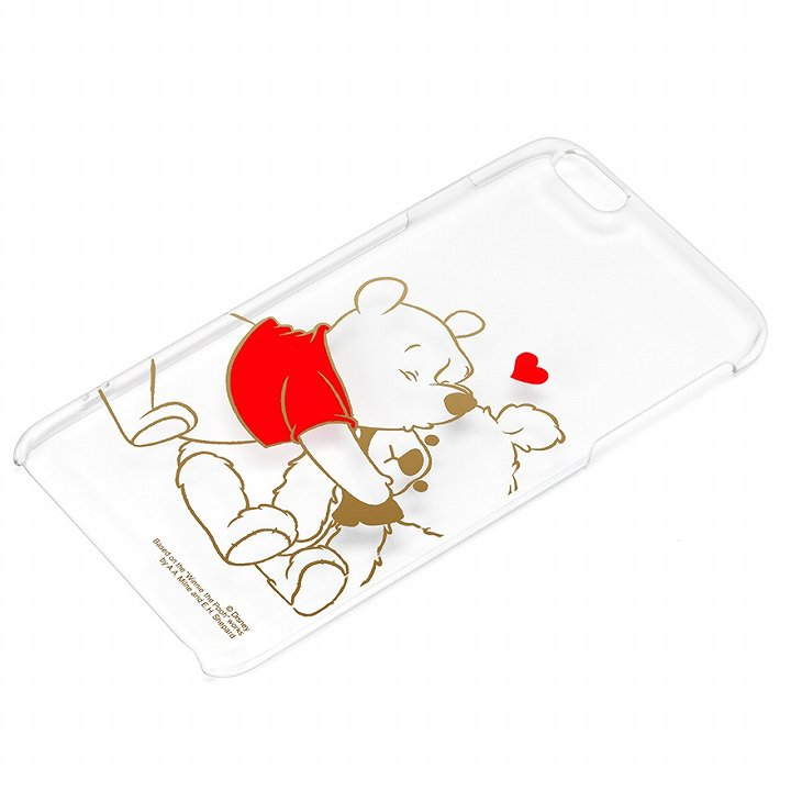 iPhone6 Plus ケース ディズニー ハードケース クリア金箔押し くまのプーさん iPhone 6 Plus_0