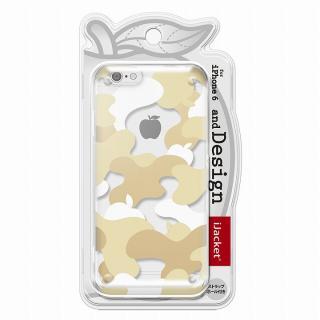 【iPhone6ケース】and Design クリアハードケース 金箔/カモフラゴールド iPhone 6_5