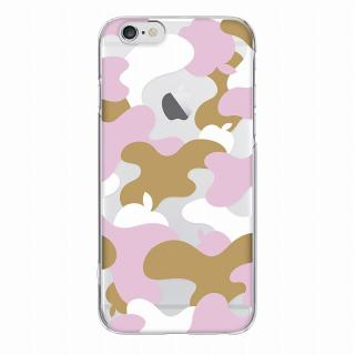 【iPhone6ケース】and Design クリアハードケース 金箔/カモフラピンク iPhone 6_2