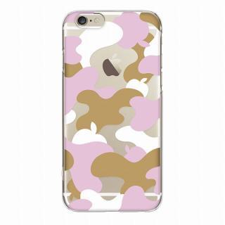【iPhone6ケース】and Design クリアハードケース 金箔/カモフラピンク iPhone 6_3