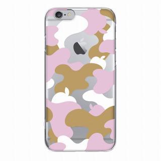 【iPhone6ケース】and Design クリアハードケース 金箔/カモフラピンク iPhone 6_4
