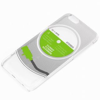 and Design クリアハードケース 銀箔/レコード iPhone 6
