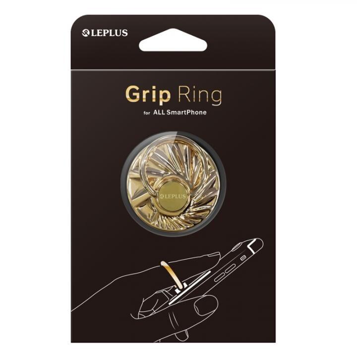 スマートフォン(汎用) スマートフォンリング 「Grip Ring」 【Hub】  ゴールド_0