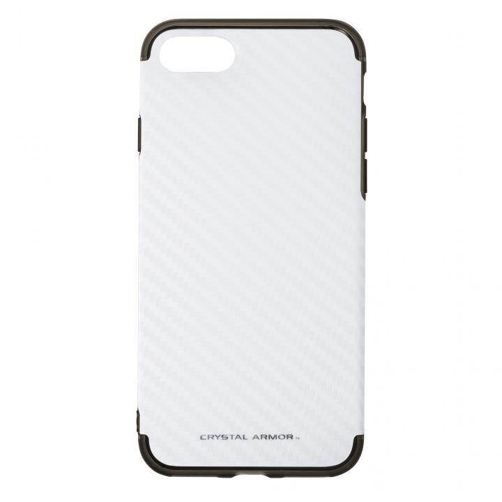 【iPhone7ケース】カーボンシェルケース ホワイト iPhone 7_0
