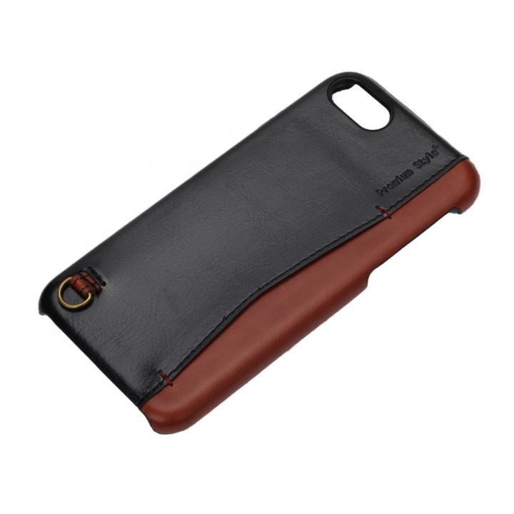 iPhone7/6s/6 ケース Premium Style バックポケットケース Stitch ブラック iPhone 7/6s/6_0