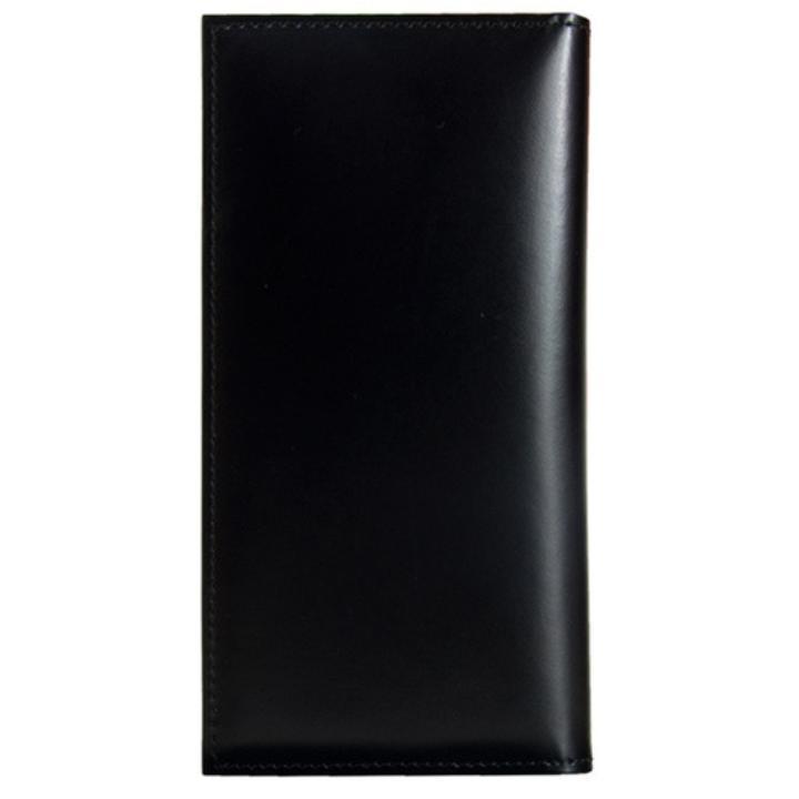 【iPhone SE/5s/5ケース】CAMONE 松坂牛レザー手帳型ケース ブラック 4インチ汎用ケース_0