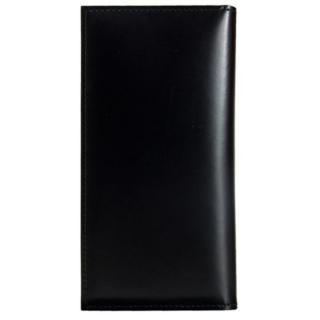 iPhone SE/5s/5 ケース CAMONE 松坂牛レザー手帳型ケース ブラック 4インチ汎用ケース