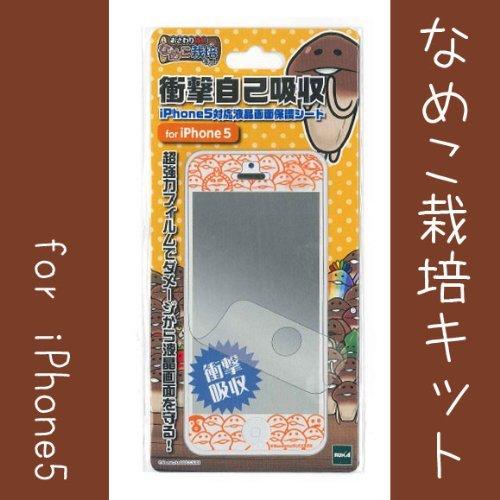 【iPhone SE/5s/5フィルム】なめこ栽培 衝撃自己吸収シート(なめこ栽培キット)_0