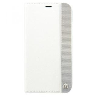 UUNIQUE 50:50 LUXE CROC - FOLIO HARD SHELL WHITE & SLIVER iPhone X